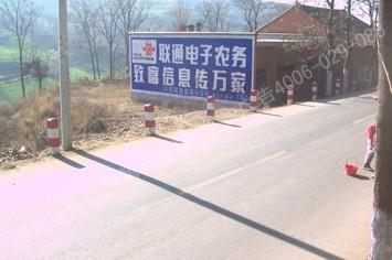 中国联通手绘高墙墙体广告