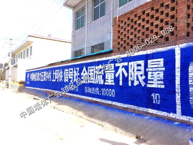 中国电信手绘墙体广告.jpg